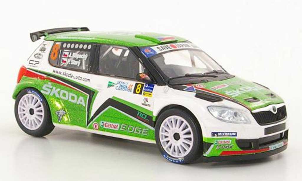 Skoda Fabia S2000 1/43 Abrex (FL 2010) No.8 J.Kopecky / P.Stary Rally Islas Canaria 2011 miniature