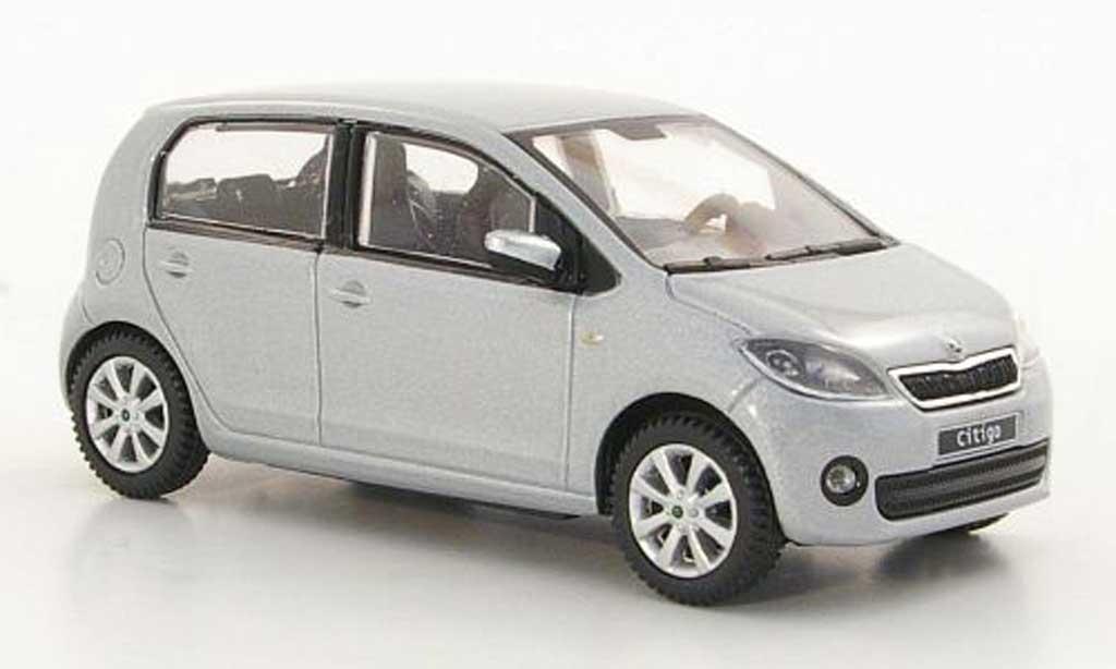 Skoda Citigo 1/43 Abrex grise 5-portes 2012 miniature