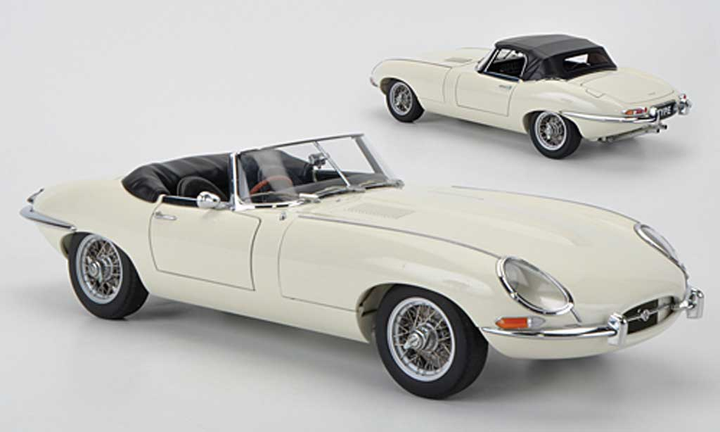 Jaguar E-Type 1/18 Autoart Roadster Series I 3.8 beige miniature