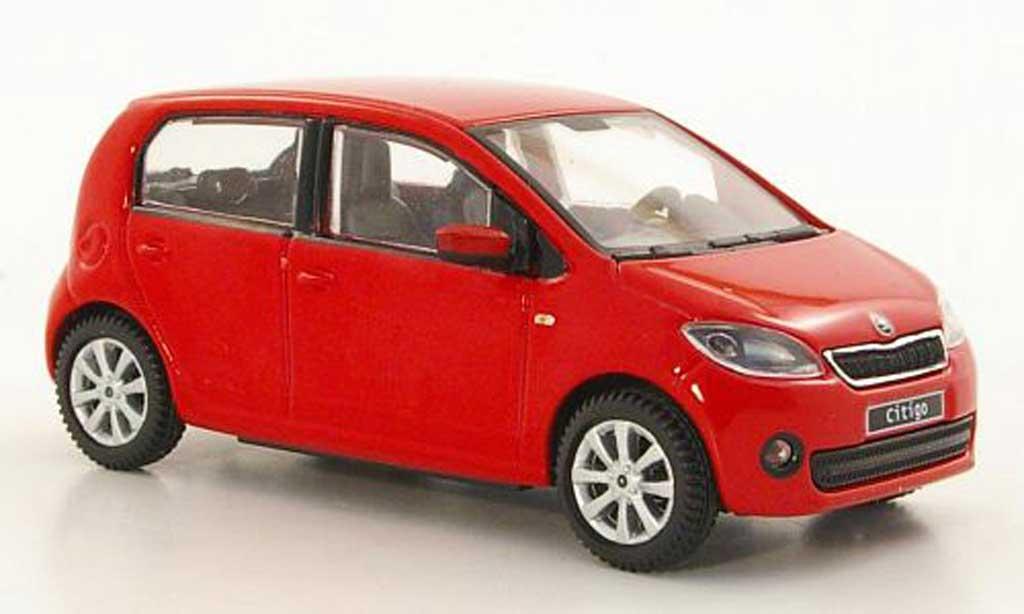 Skoda Citigo 1/43 Abrex rouge 5-portes 2012 miniature