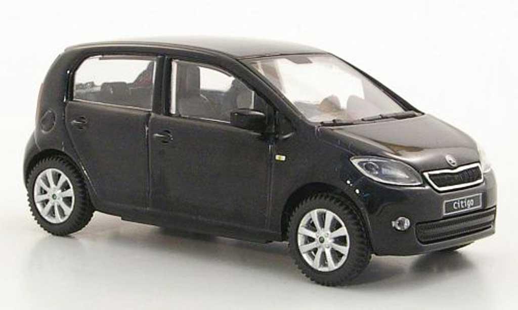 Skoda Citigo 1/43 Abrex noire 5-portes 2012 miniature