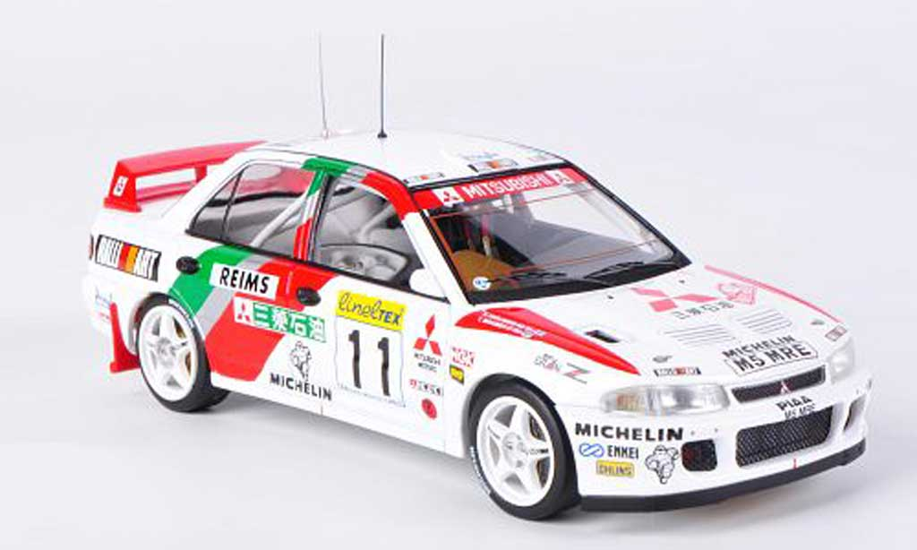 Mitsubishi Lancer Evolution II 1/43 HPI No.11 T.Makinen / S.Harjanne Rally Monte Carlo 1995 miniature