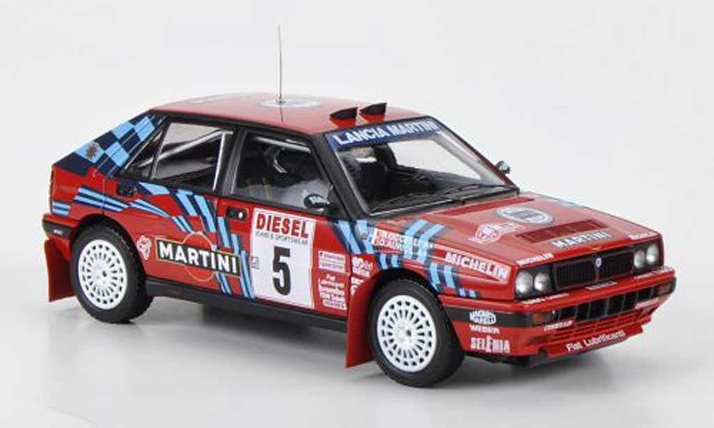 Lancia Delta HF Integrale 1/43 HPI 16V No.5 Martini D.Auriol / B.Occelli Rally Sanremo 1989 miniatura