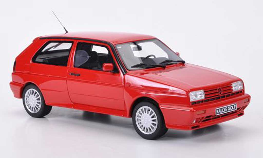 Volkswagen Golf 2 Rallye 1/18 Ottomobile G60 rouge miniature