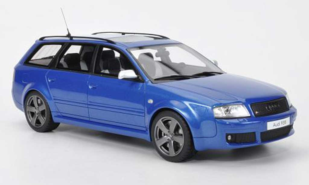 Audi RS6 1/18 Ottomobile Plus Avant bleu miniature
