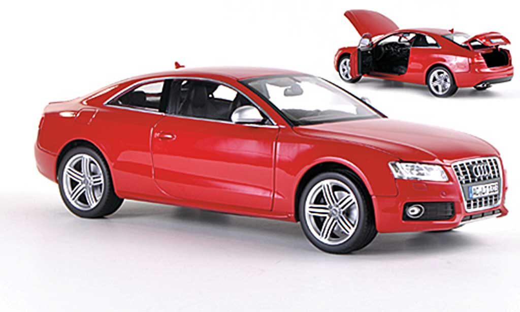 Audi S5 1/18 Norev Coupe rouge  2009 miniature