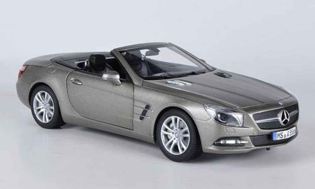 Mercedes Classe SL 500 1/18 Norev 500 matt grise 2012 miniature