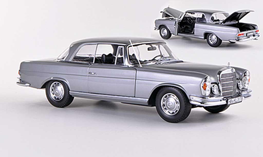Mercedes 280 1969 1/18 Norev SE Coupe (W111) grise miniature