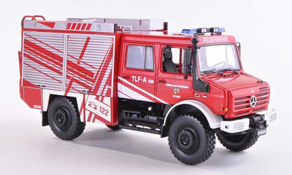 Mercedes Unimog 1/43 Norev U5000 TLF-A 1000 Freiwillige Feuerwehr St. Ilgen 2005 miniature
