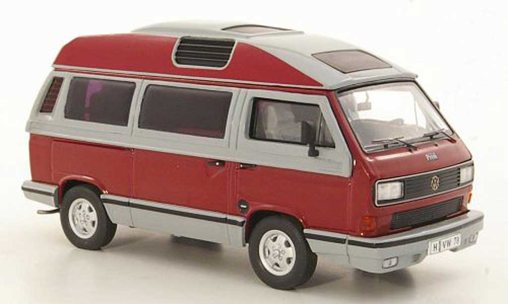 Volkswagen T3 B 1/43 Premium ClassiXXs b Dehler-Profi rouge/grise Sondermodell MCW miniature