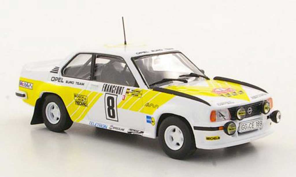 Opel Ascona B 1/43 Hachette 400 No.8 Rally Monte Carlo (ohne Magazin) 1980 miniature