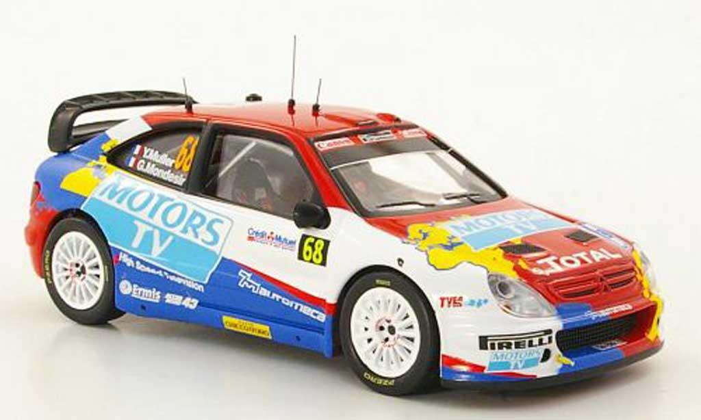 Citroen Xsara WRC 2010 1/43 IXO No.68 Y.Muller / G.Mondesir Rally Frankreich miniature