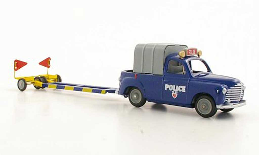 Renault Colorale 1/43 CIJ Police avec Anhanger coche miniatura