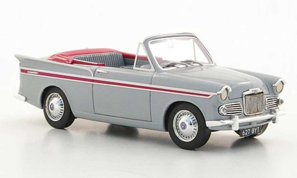 Sunbeam Rapier 1/43 Silas Models Series IIIa Convertible grise/lila 1961 miniature