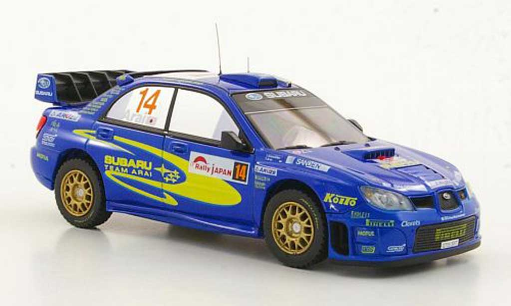 Subaru Impreza WRC 1/43 HPI No.14 Team Arai T.Arai / T.Sircombe Rally Japan 2006 modellino in miniatura
