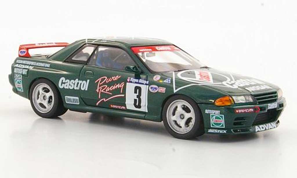 Nissan Skyline R32 1/43 HPI GT-R No.3 Castrol H.Fukuyama / A.Iida N1 1992 miniatura