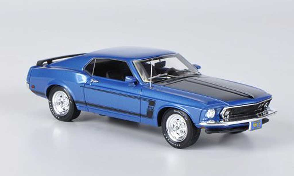 Ford Mustang 1969 1/43 Highway 61 Boss 302 bleu modellautos