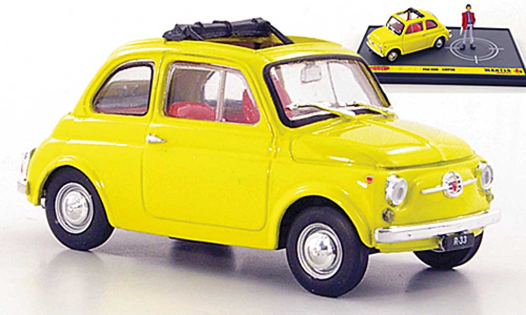 Fiat 500 1/43 Brumm jaune Lupin ''Wante- Lupin the 3rd'' miniature