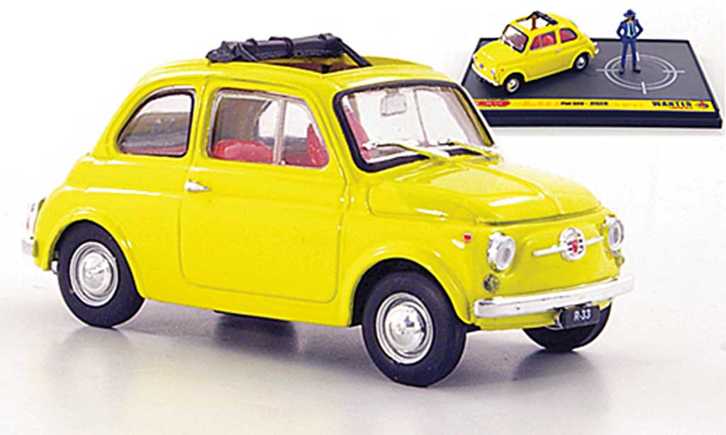 Fiat 500 1/43 Brumm yellow Jigen ''Wante- Lupin the 3rd'' diecast
