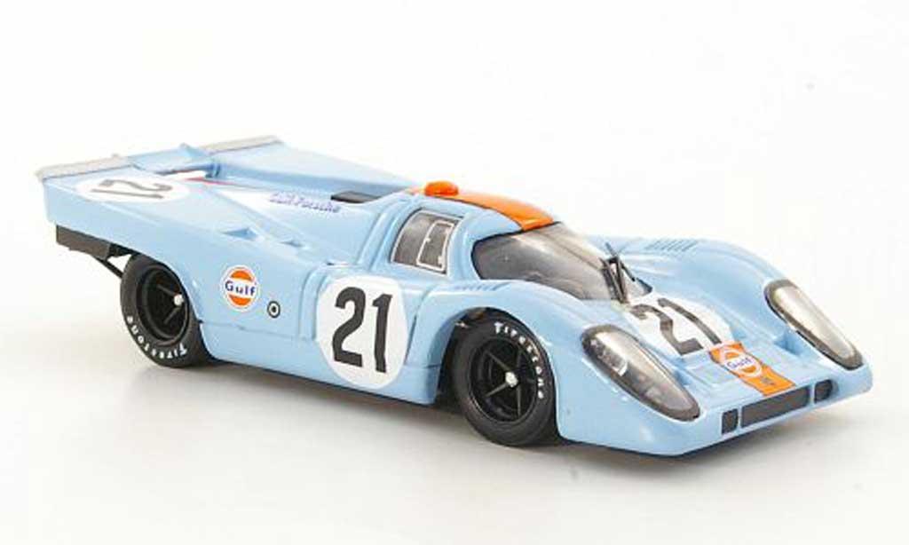 Porsche 917 1970 1/43 Brumm No.21 JWA-Gulf Racing Team Rodriguez / Kinnunen 24h Le Mans miniature