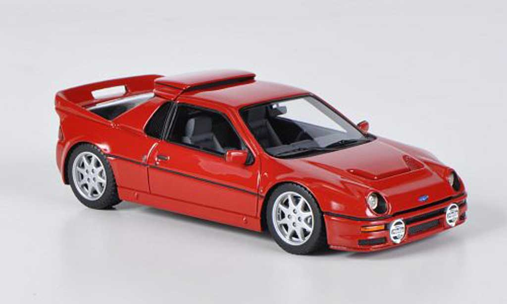 Ford RS 200 1/43 HPI red LHD diecast model cars