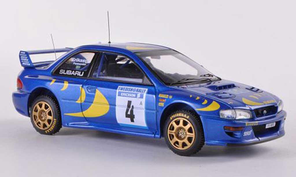 Subaru Impreza WRC 1/43 HPI 97 No.4 K.Eriksson / S.Parmander Rally Schweden 1997 modellino in miniatura
