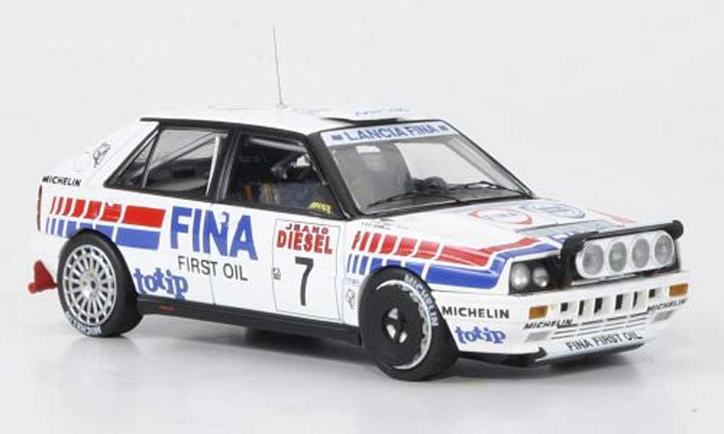 Lancia Delta HF Integrale 1/43 HPI HF Intregrale 16V No.7 Fina Cerrato/Cerri Rally San Remo 1991 miniatura