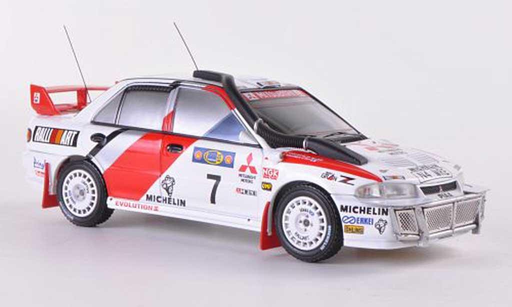 Mitsubishi Lancer Evolution III 1/43 HPI No.7 RalliArt T.Makinen / S.Harjanne Safari Rally 1996 miniature