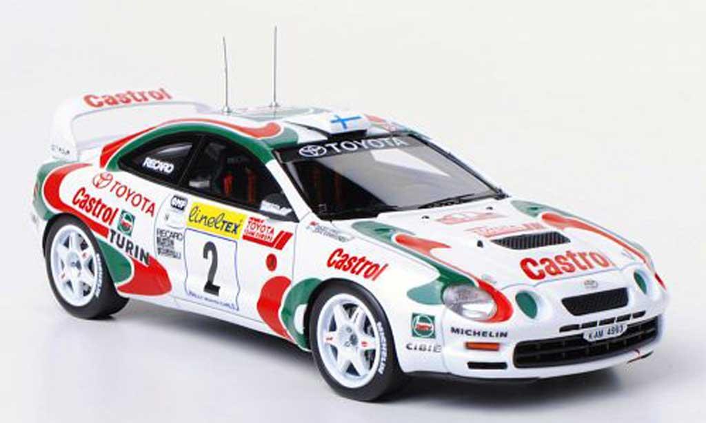 Toyota Celica GT Four 1/43 HPI 1995 No.2 Team Europe / Castrol J.Kankkunen / N.Grist Rally Monte Carlo modellautos