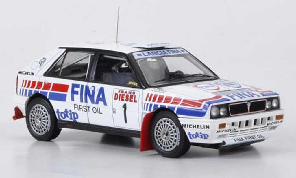 Lancia Delta HF Integrale 1/43 HPI 16V No.1Fina Rally San Remo 1991 modellautos