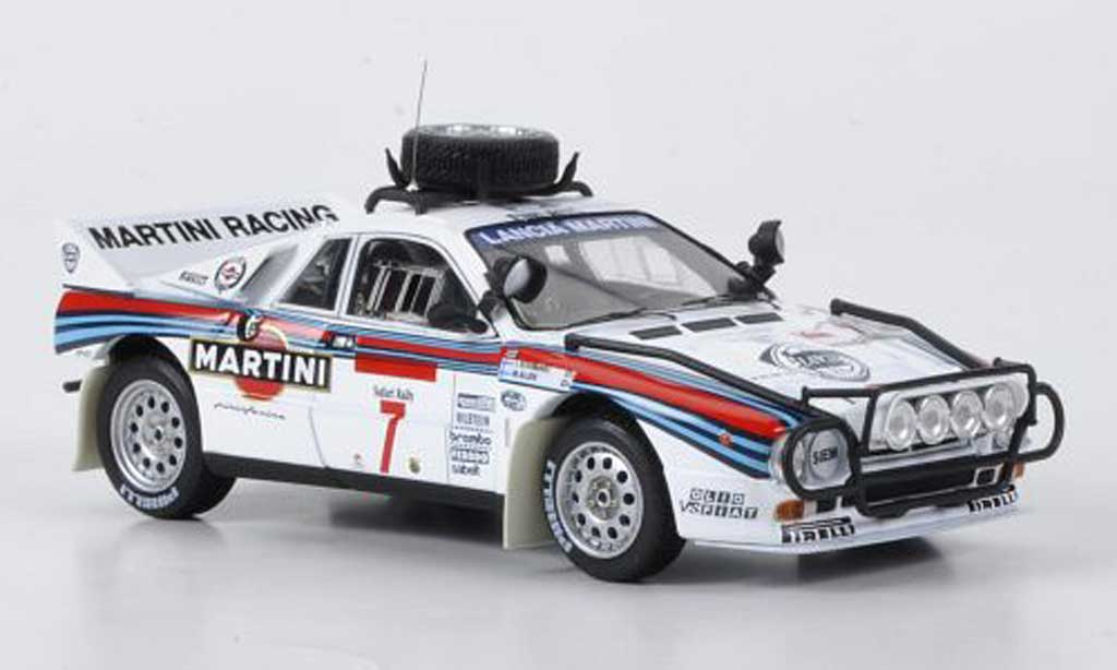 Lancia 037 1/43 HPI Rally No.7 Martini Alen/Kivimaki Safari Rally 1984 diecast