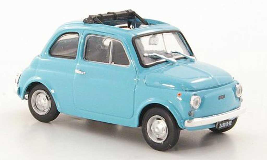 Fiat 500 R 1/43 Brumm R aperta turkis 1972 diecast model cars