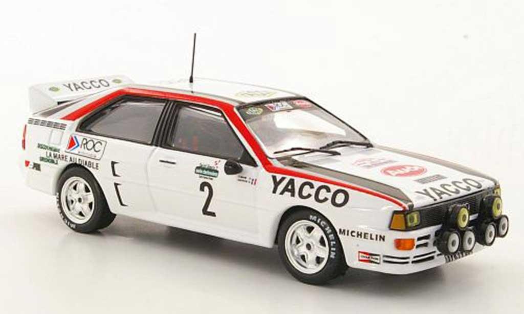 Audi Quattro 1/43 Hachette No.2 Yacco B.Darniche / A.Mahe Rally Lyon-Charbonnieres 1984 miniature