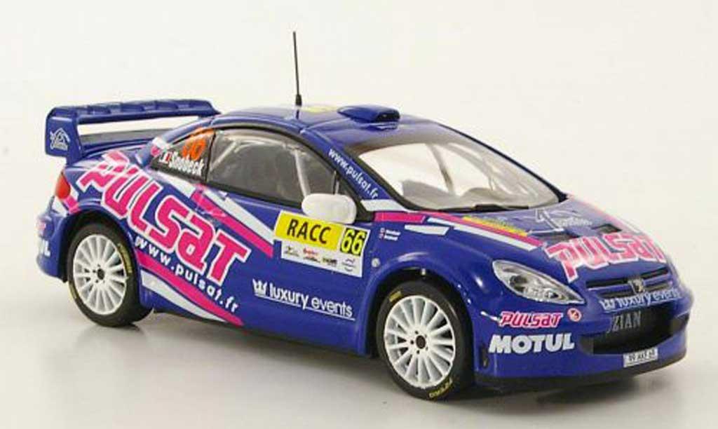 Peugeot 307 WRC 1/43 Hachette No.66 Pulsat D.Snobeck / G.Mondesir Rally Catalunya 2009 miniature