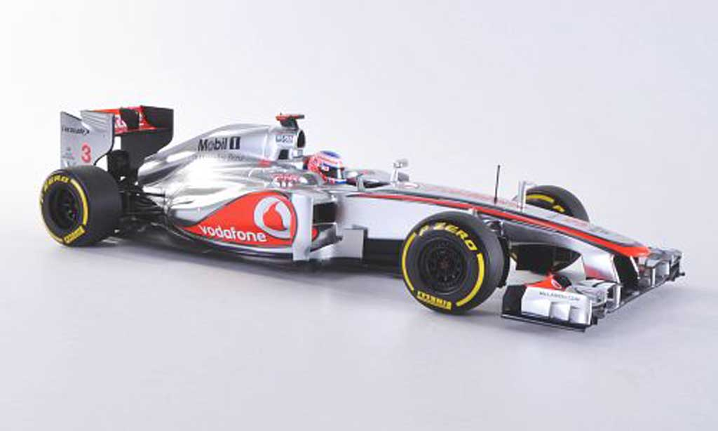McLaren F1 2012 1/18 Minichamps 2012 mercedes MP4-27 No.3 Vodafone J.Button -Saison miniature