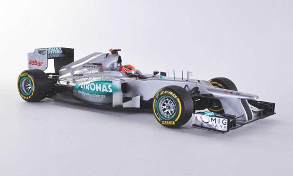 Mercedes F1 2012 1/18 Minichamps AMG W03 No.7 Petronas M.Schumacher Saison miniature