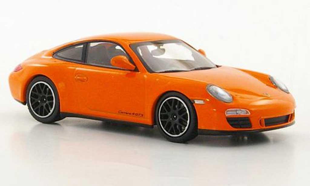 Porsche 997 GTS 1/43 Minichamps Carrera 4 orange 2010 miniature