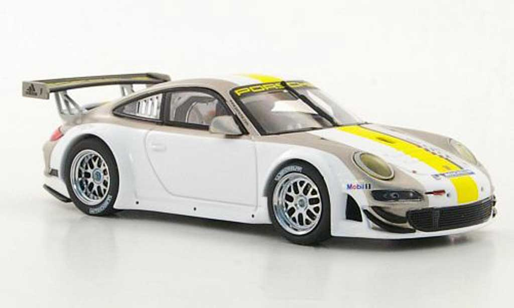 Porsche 997 GT3 RSR 1/43 Minichamps white diecast model cars