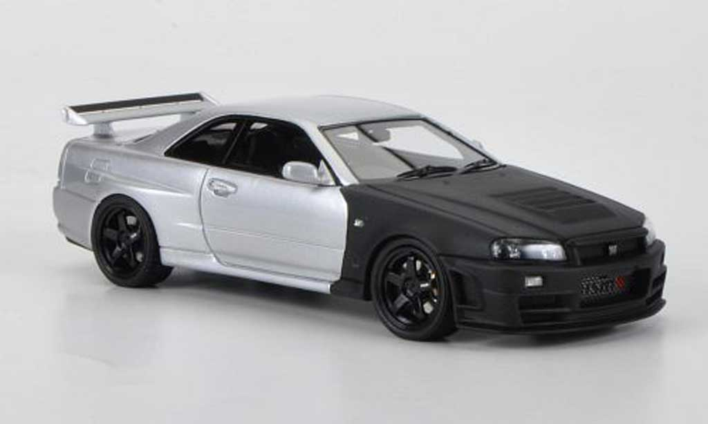 Diecast Model Cars Nissan Skyline R34 1 43 Hpi Gt R Z Tune Mattblack Grey Testfahrzeug Suzuka 2004 Alldiecast Co Uk