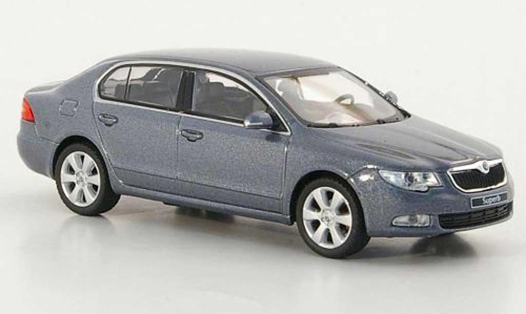 Skoda Superb 2009 1/43 Abrex II grise miniature