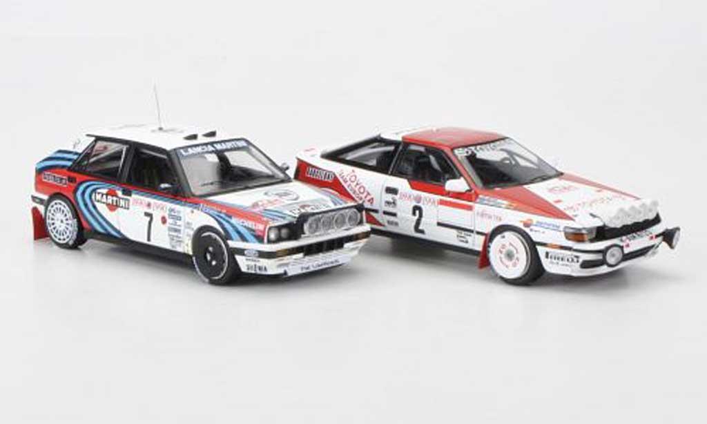 Toyota Celica GT Four 1/43 HPI 1990 Lancia + 2er-Set: Delta HF 16V No.7 und No.2 D.Auriol / C.Sainz Rally Monte Carlo modellautos