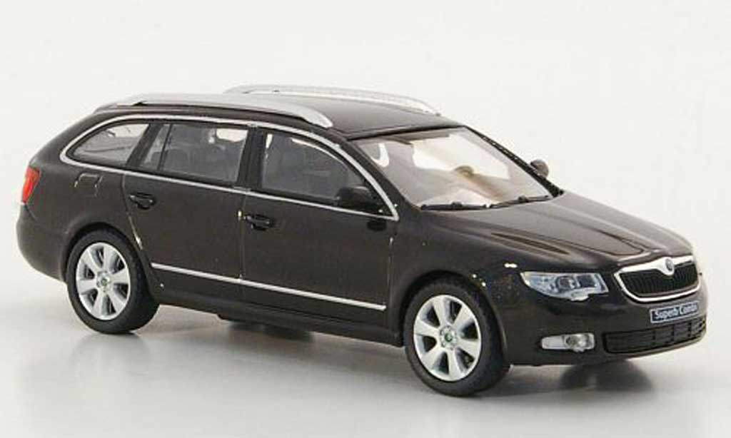Skoda Superb 2009 1/43 Abrex II Combi marron miniature