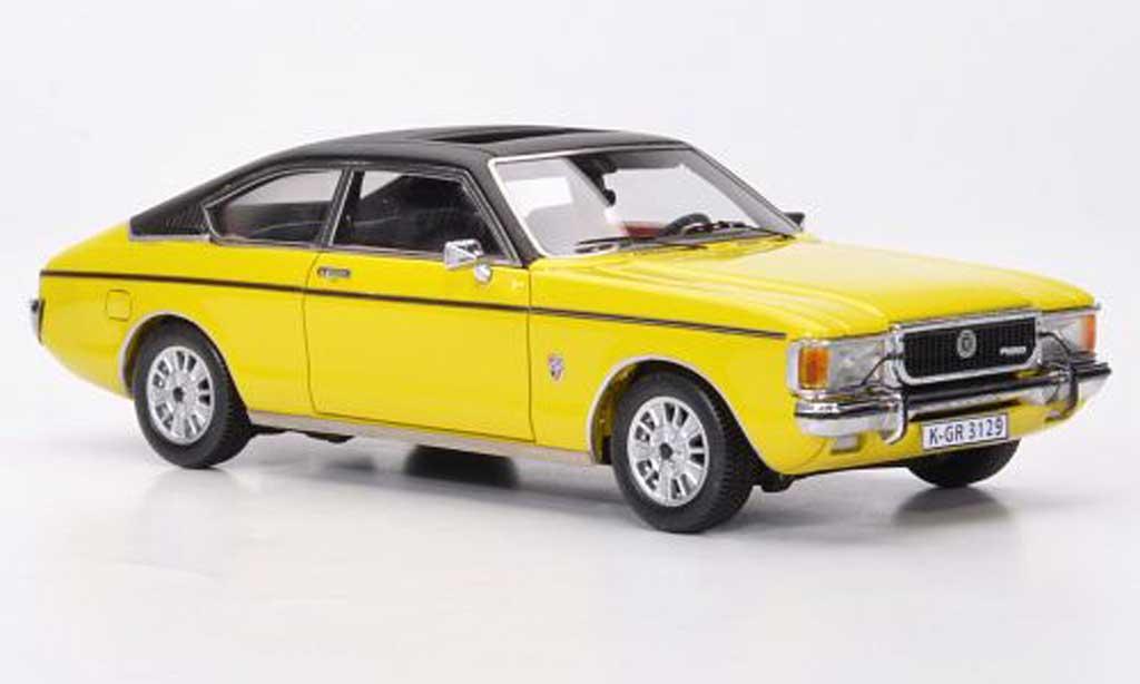 Ford Granada 1/43 Neo MKI Coupe jaune/noire 1976 miniature