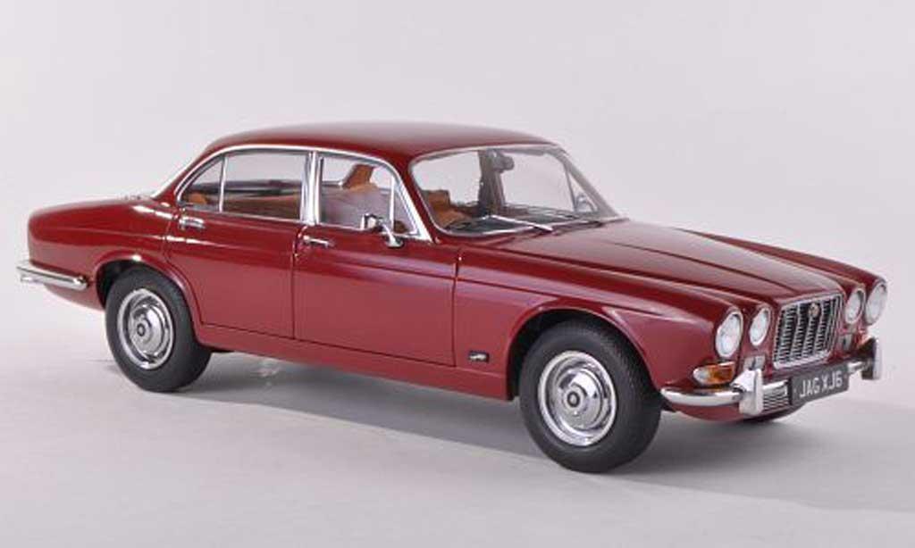 Jaguar XJ 6 1/18 Paragon Series 1 2.8 noire-rouge RHD  1971 miniature