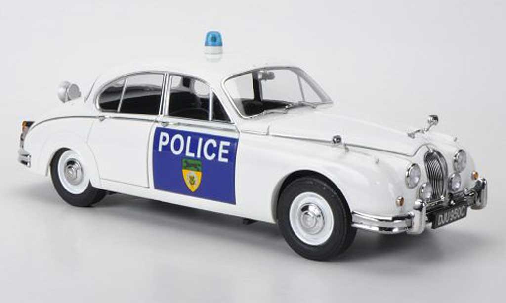 Jaguar MK 2 1/18 Model Icons Leicestershire & Rutland Constabulary Polizei (GB) RHD 1965 miniature
