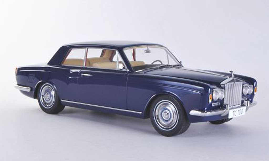 Rolls Royce Silver Shadow 1/18 Paragon MPW 2-Door Coupe bleu LHD miniature