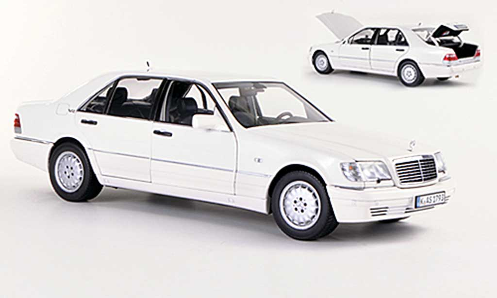 Mercedes Classe S 1/18 Norev S 600 (W140) white 1997 diecast model cars