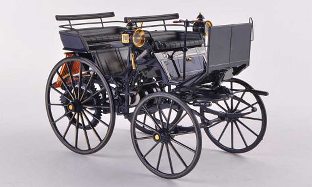 Mercedes Daimler 1/18 Norev Motorkutsche noire 1886 miniature