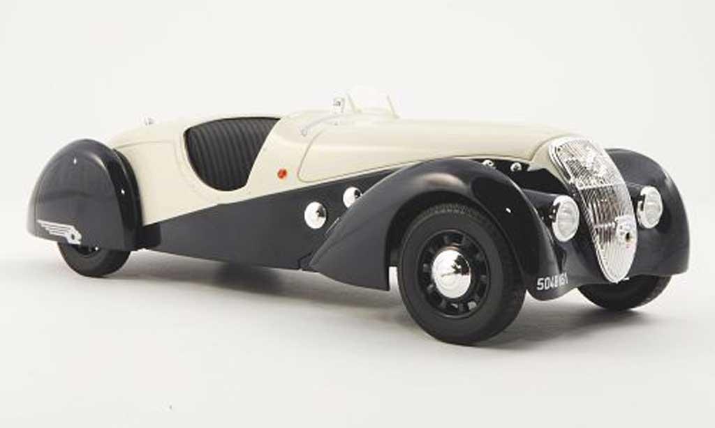 Peugeot 302 Roadster 1/18 Norev Darl'Mat bleu/beige 1937 miniature