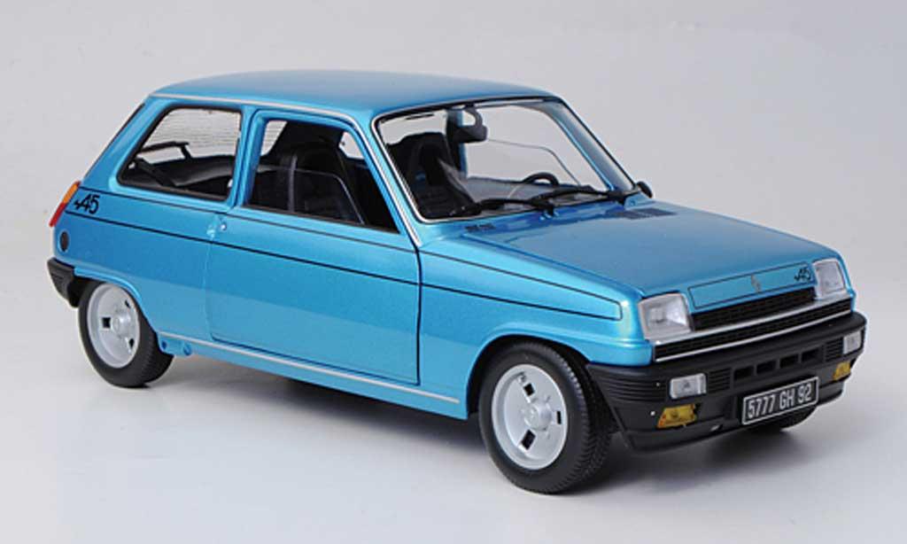 Renault 5 Alpine 1/18 Norev bleu 1977 diecast model cars